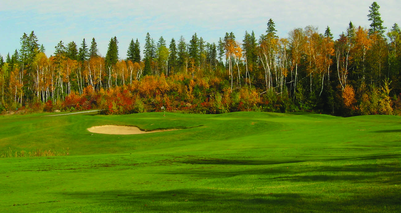 <h2>Golfing Fun</h2> Stay, Play and Relax - Spruce Needles and Hollinger Golf Club.
